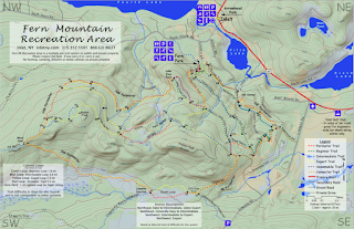 Fern Park, Inlet, NY cross-country ski trail map