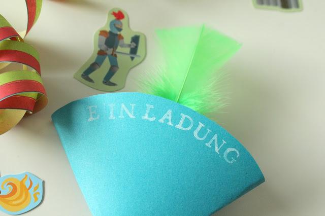 DIY Rittergeburtstag Einladungskarten Kindergeburtstag 4 Jahre Jules kleines Freudenhaus