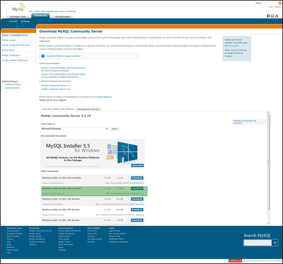 Siva R Vaka: MySQL Installation