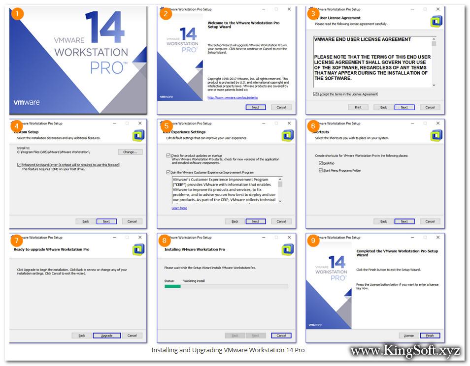 Hướng dẫn cài đặt Vmware Workstation Pro 14.1.3 Full Key