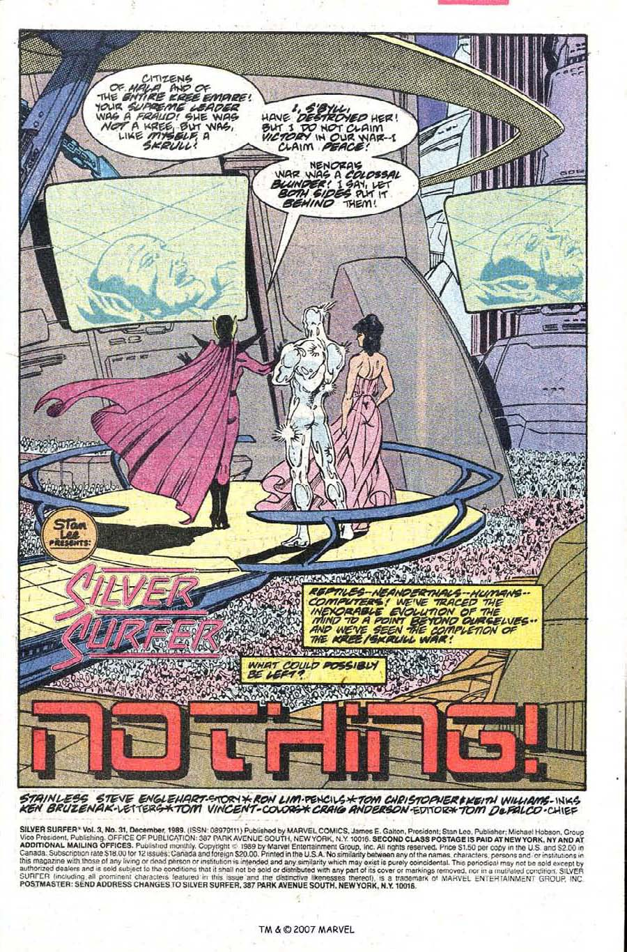 Read online Silver Surfer (1987) comic -  Issue #31 - 3