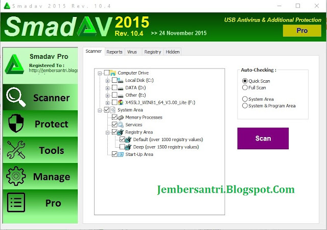 Smadav Pro Rev 10.5 Full Free Serial Number Key Terbaru 2016