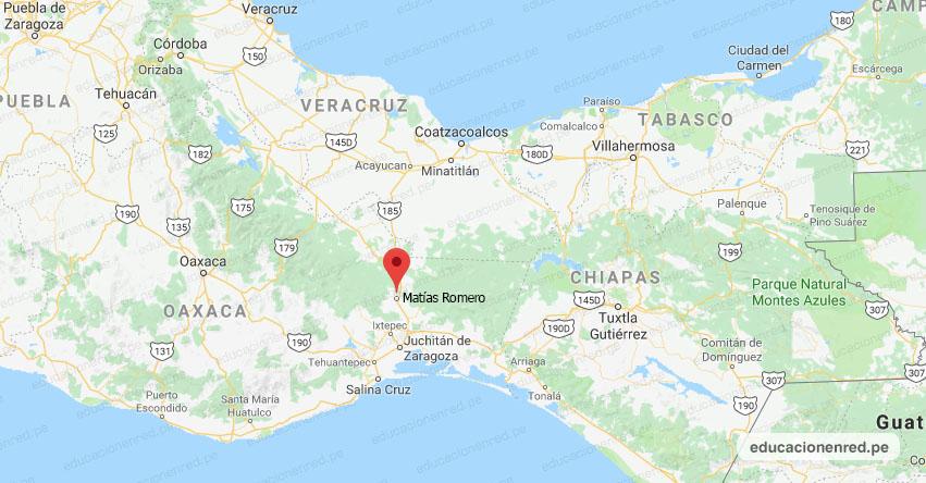 Temblor en México de Magnitud 4.2 (Hoy Martes 21 Enero 2020) Sismo - Epicentro - Matías Romero - Oaxaca - OAX. - SSN - www.ssn.unam.mx