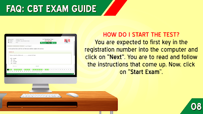 HOW DO I START THE JAMB TEST?