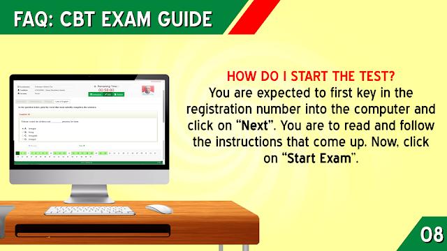 HOW DO I START THE JAMB TEST?