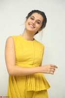 Taapsee Pannu looks mesmerizing in Yellow for her Telugu Movie Anando hma motion poster launch ~  Exclusive 056.JPG