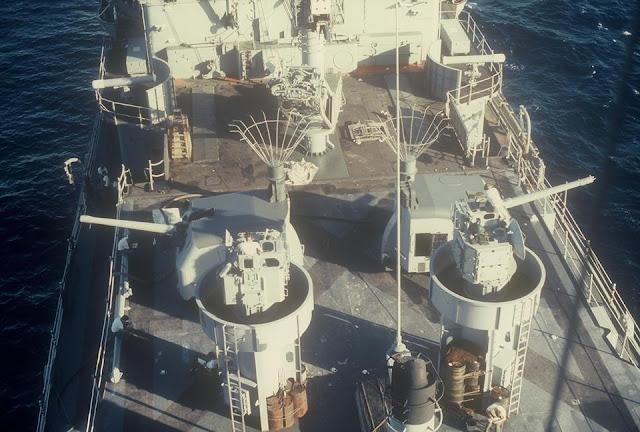 USS Long Beach guns