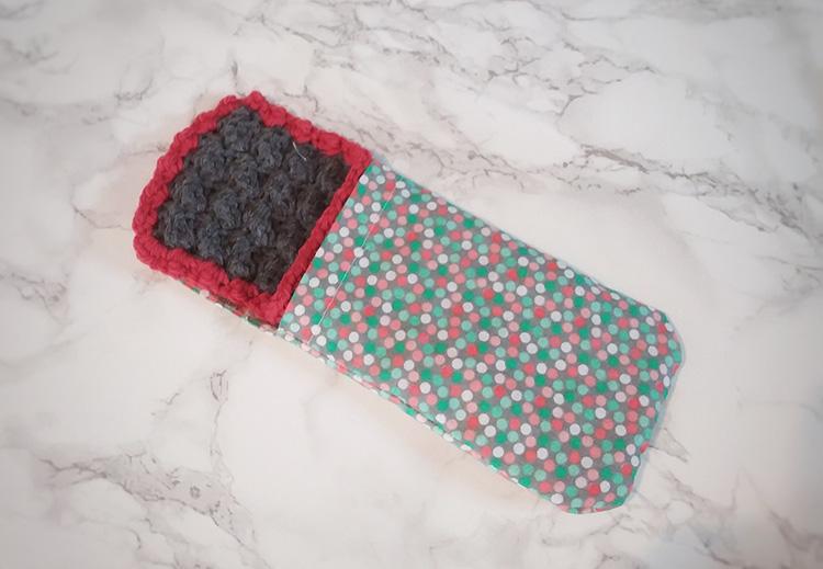 phone case cover crochet, fabric, DIY