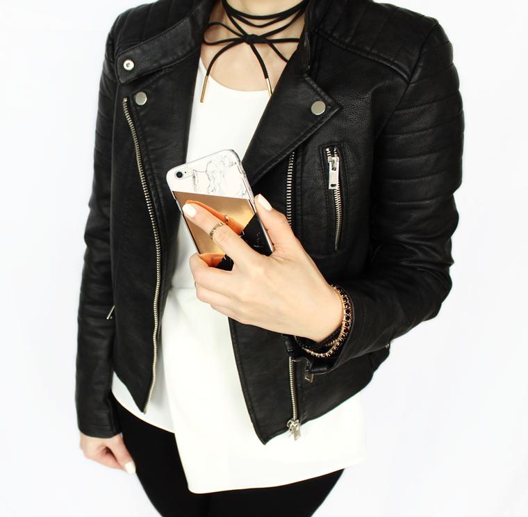 Nowości w mojej garderobie i nie tylko - czarna kurtka ramoneska Zara