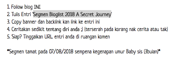 Segmen Bloglist 2018 A Secret Journey