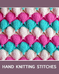 Learn Butterfly Slip Stitch Pattern with our easy to follow instructions at HandKnittingStitches.com