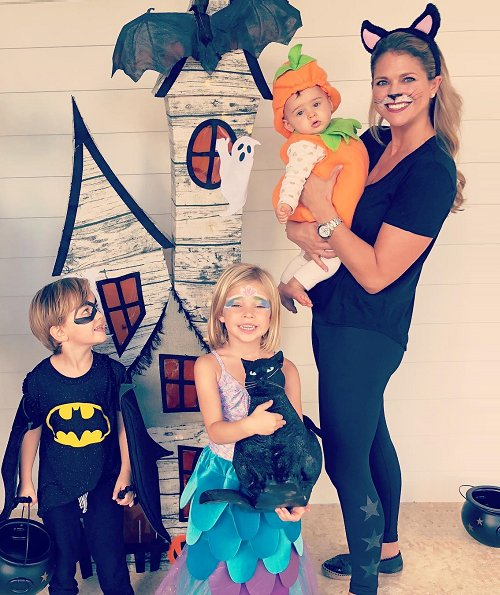 Princess Madeleine, Princess Adrienne, Prince Nicolas and Princess Leonore of Sweden. the Halloween theme. Princess Madeleine's children at Florida, Miami