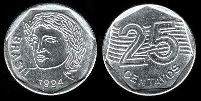Brazil 25 Centavos (1994,1995)