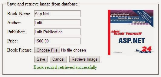 How to upload,store image into SQL server database and