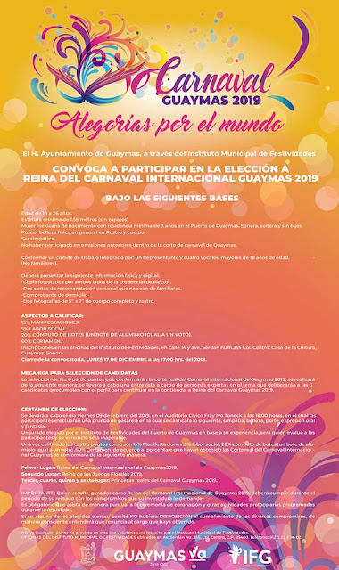 convocatoria carnaval guaymas 2019