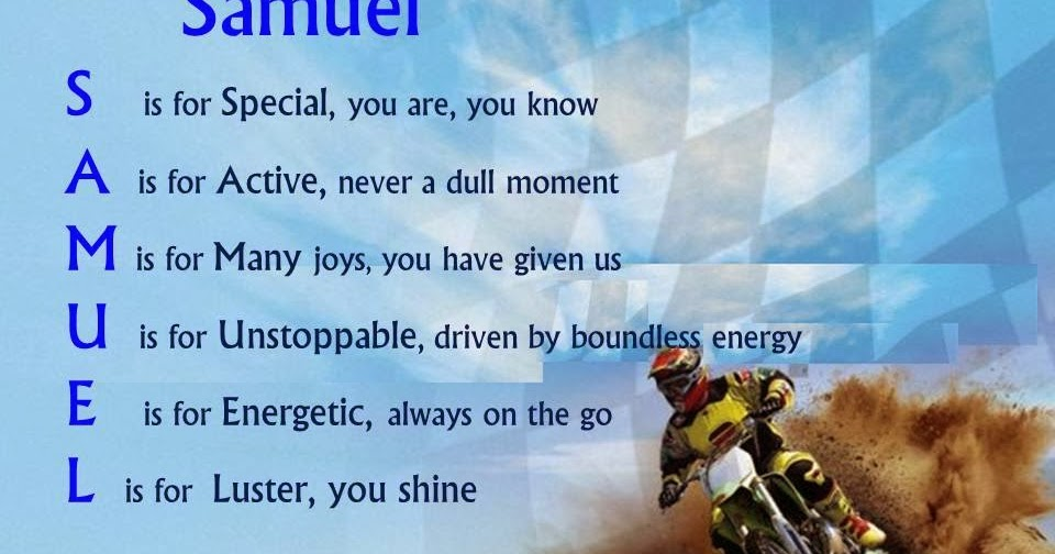 Acrostic Name Poems For Boys: Samuel