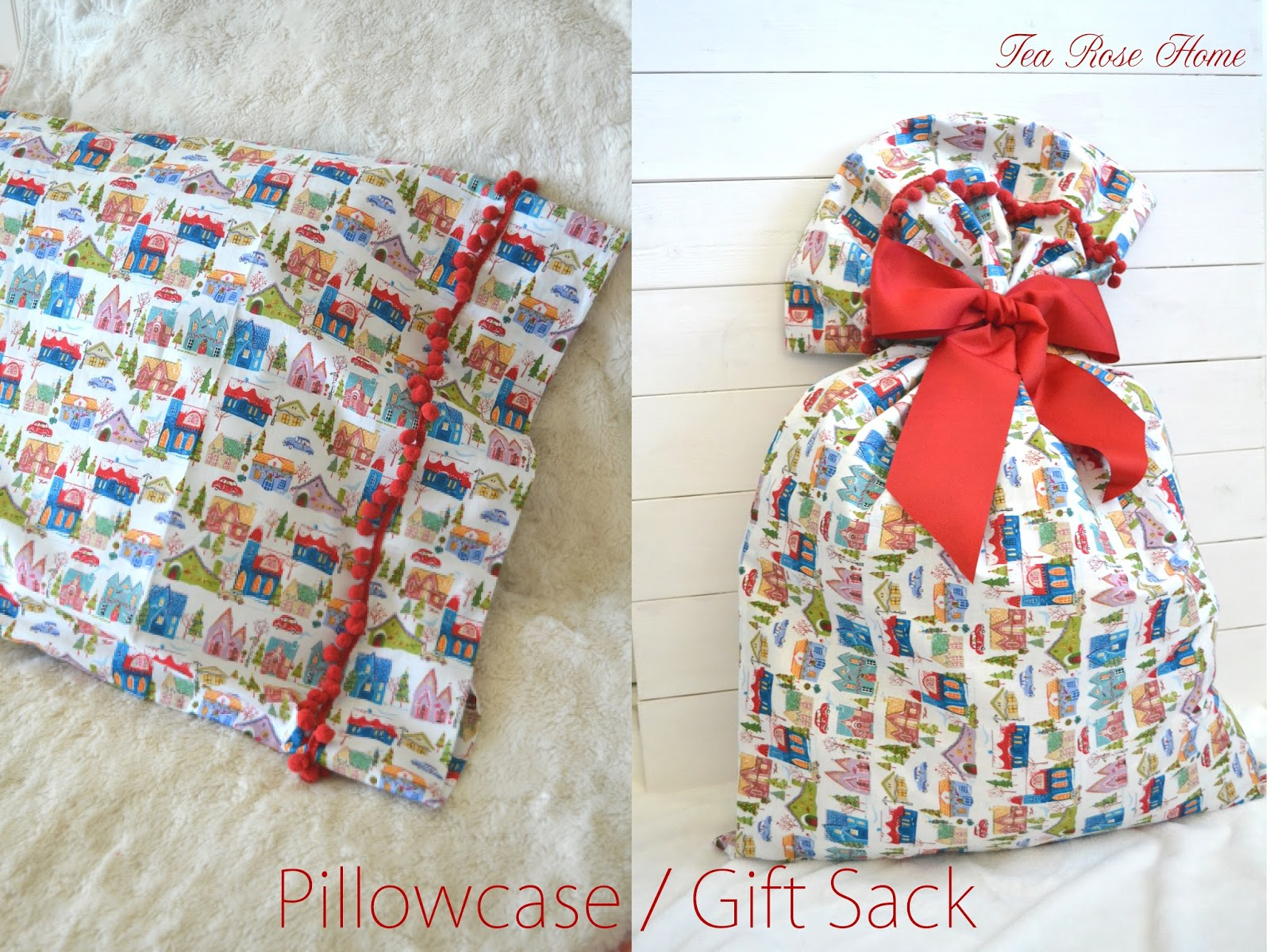 Christmas Fabric Bundle Giveaway and Super Easy Pillowcase Tutorial & Tea Rose Home: Christmas Fabric Bundle Giveaway and Super Easy ... pillowsntoast.com