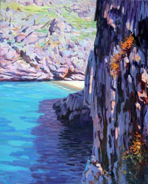 Miguel Reche, Torrent de Pareis, Mallorca en Pintura, Mallorca pintada, Paisajes de Mallorca