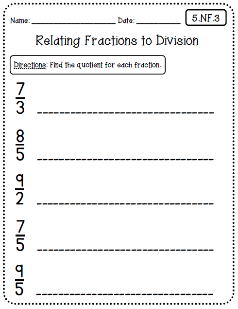 Common Core Worksheets (5th Grade Edition)