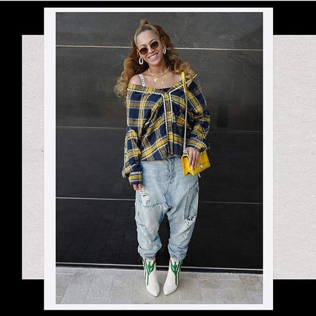 c38669d6a37 Beyonce s Gucci embroidered plaid shirt cost  4
