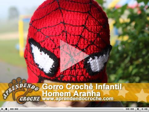 Gorro Infantil Homem Aranha - Katia Ribeiro Crochê Moda e Decoração b198381d042