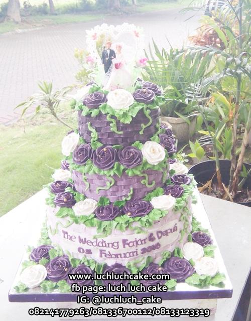 Wedding Cake Buttercream Surabaya - Sidoarjo