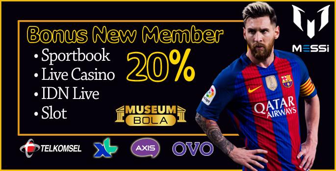 Bonus Member Baru 20%