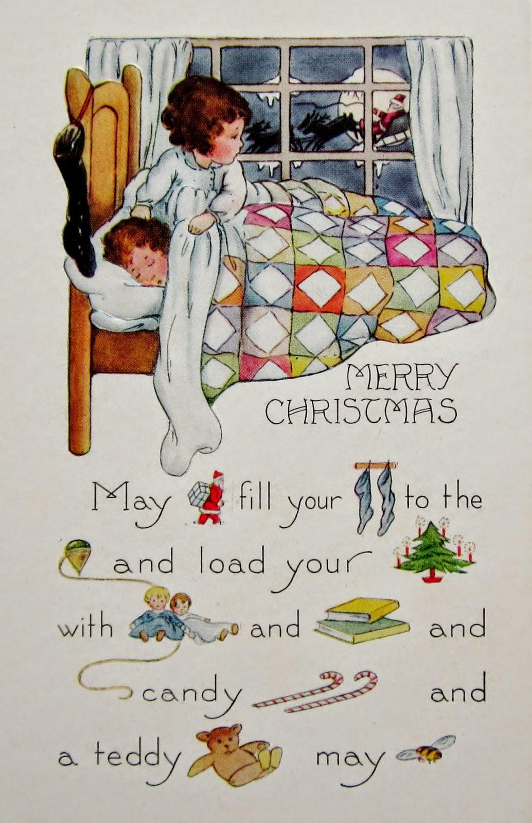 Postcardiva Postcard Blog Whitney Rebus Christmas Postcards