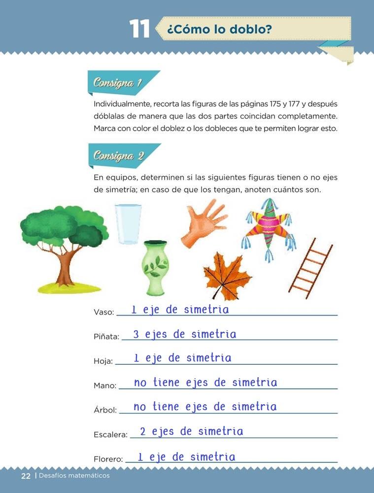 Libro de textoDesafíos Matemáticos¿Cómo lo doblo?Sexto gradoContestado