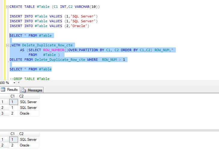 All about SQLServer: TSQL script - CTE to remove duplicate rows