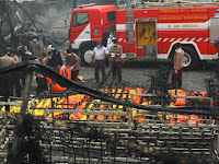 Kronologi Kebakaran Pabrik Kembang Api Tangerang beserta Foto Didalam Pabriknya Pasca Terbakar