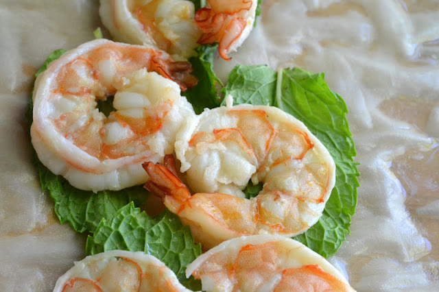 shrimp and mint summer rolls