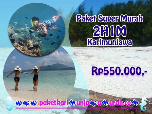 brosur paket wisata karimunjawa 2h1m murah