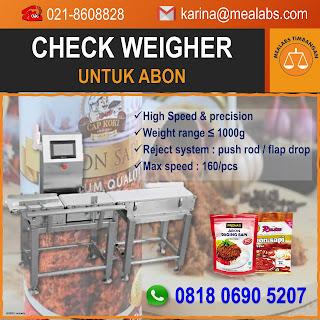 Checkweigher untuk Abon