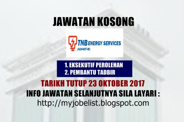 Jawatan Kosong di TNB Energy Services (TNBES) Oktober 2017
