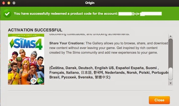sims 4 product code