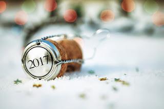 feliz año nuevo champagne 2017