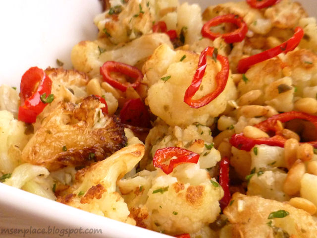Fried Cauliflower w/ Pine Nuts, Capers