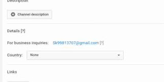 YouTube channel me business inquiry email add kaise kare 4