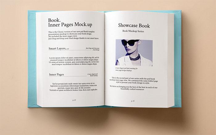 Hardback Book Inner Mockup PSD