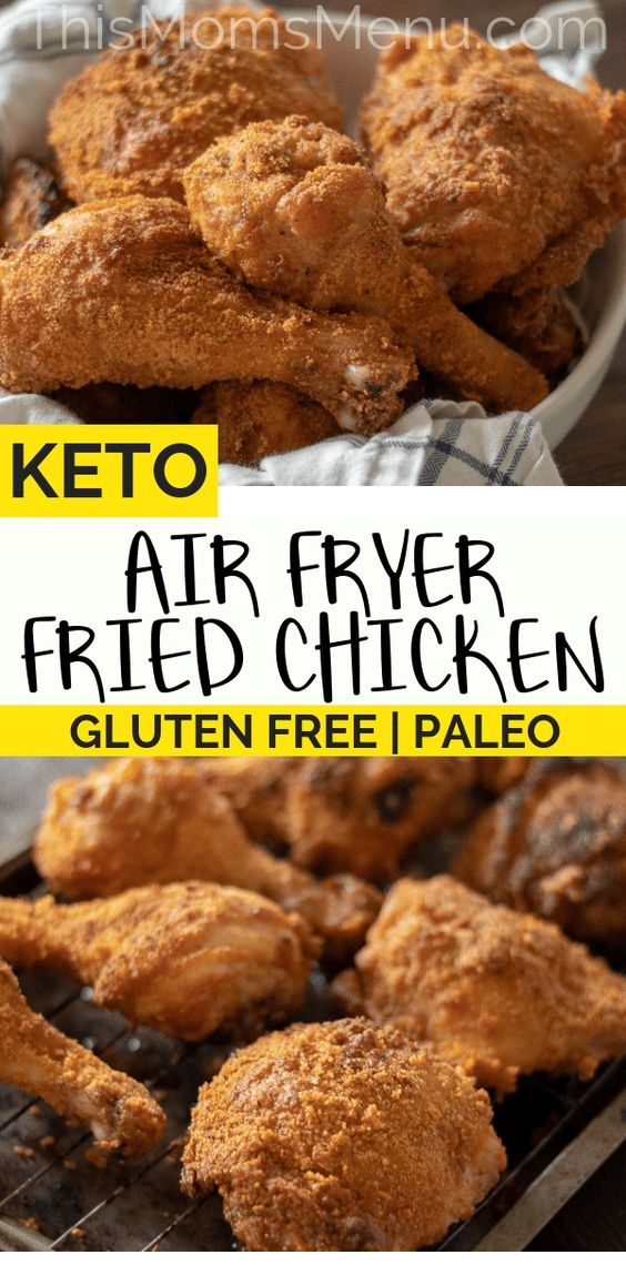 Air Fryer Keto Fried Chicken
