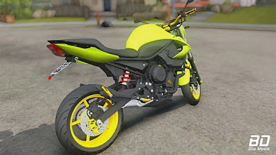 Download mod moto XJ6 Renato Garcia amarela 2018 para GTA San Andreas, Jogo PC GTA SA