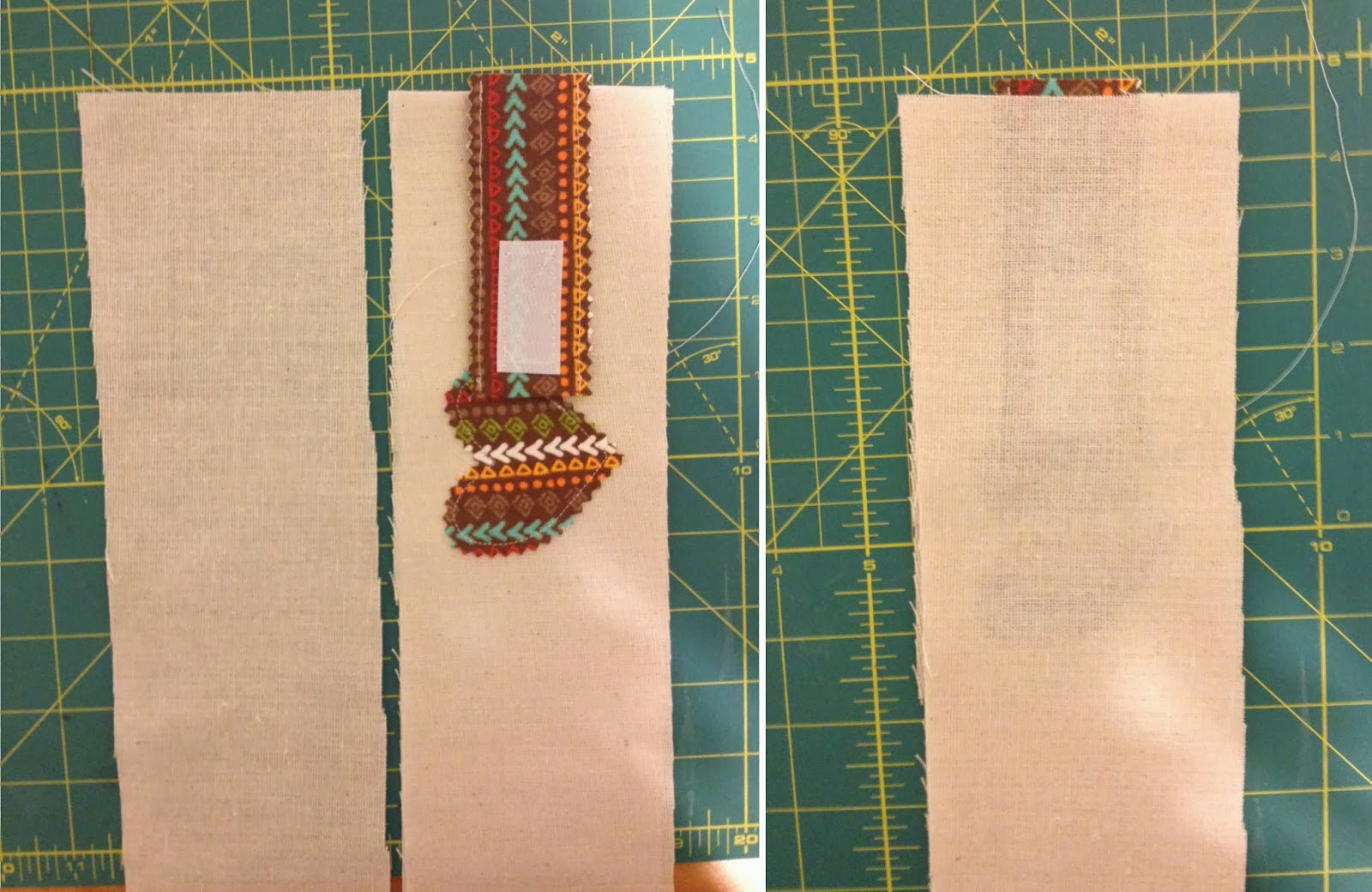 how to turn out fabric when short side stitched