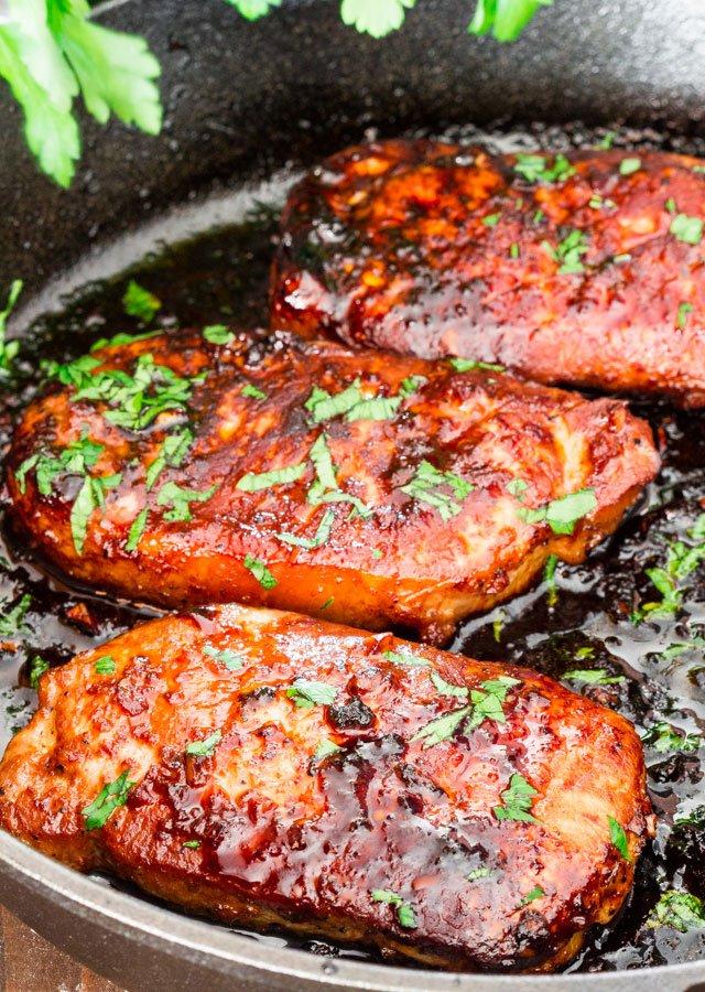 Style Pork Chops - a simple recipe for Korean style marinated pork ...