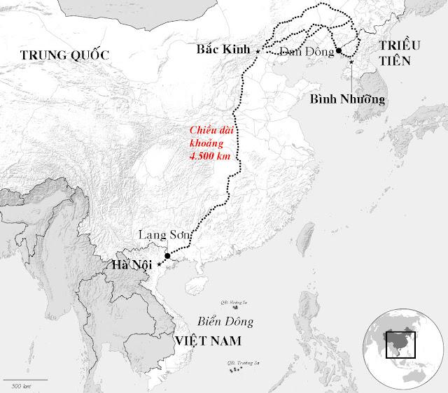 Hành trình của đoàn tàu chở Kim Jong Un