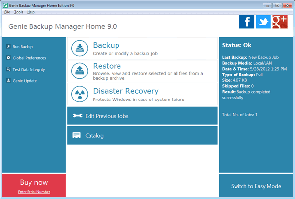 Genie Backup Manager Home 9 Serial Key