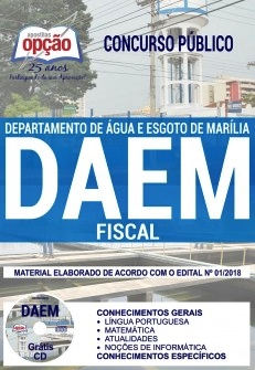 Apostila DAEM Marília 2018 Fiscal