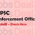 UPSC Enforcement Officer Result 2017 EPFO, EO, AO Cut Off/ Merit List