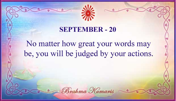Thought For The Day September 20