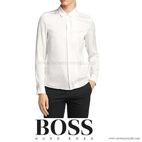 Queen letizia Style HUGO BOSS Bedina Blouse